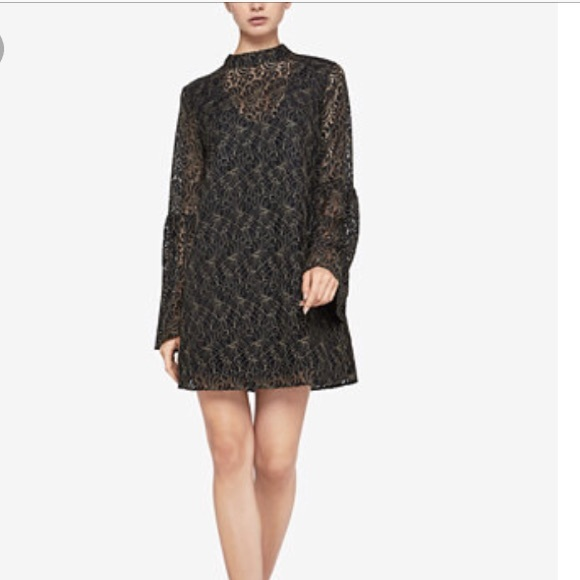 BCBGeneration Dresses & Skirts - New BCBGENERATION Black Lace Bell Sleeve Dress
